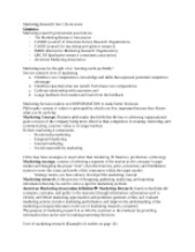 Marketing Research Test 1 Book notes