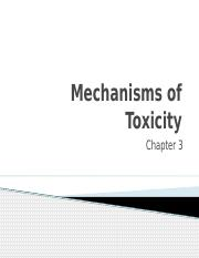 Unit 1.2 Mechanisms of Toxicity(4)