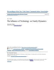 9 The Influence of Technology on Family Dynamics