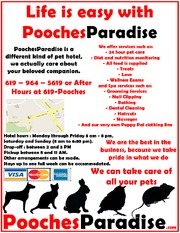 Pooches Paradise Full Page ad