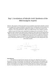 syn of asp formal chem report