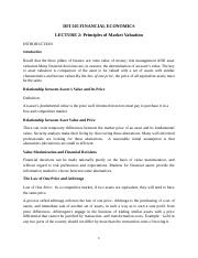LECTURE 2 Principles of Market Valuation.docx