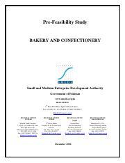 bakery feasibility study