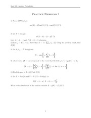 Applied Probability Practice Problems and Solutions 2