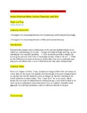 PSU COMM 150 LESSON 8 LECTURE NOTES AND QUIZ.docx