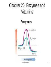 Chapter 20,  Enzymes and Vitamins