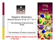 Topic 4 Lecture Slides - Organic Chemistry