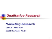 Chapter 4 -Qualitative Research