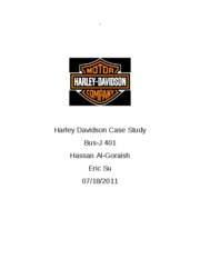 harleydavidson case study Sm case study harley-davidson motor company automotive geographic area served global challenge add speed, visibility and efficiency to the us logistics processes of one of the world's leading motorcycle manufacturers, to accommodate growth.