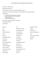 Social Studies 30-1 Comparative Democracies Study Guide (1)