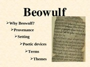 Intrduction to to Beowulf