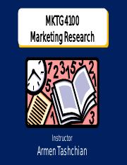 Marketing Research - Chapter 1 PowerPoint
