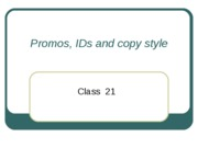 promos and copy style ppt