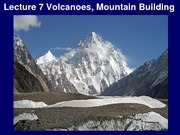 Lecture 7 - Mountain Building
