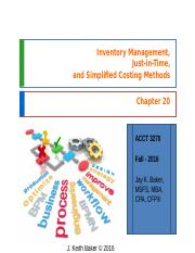 Chapter 20 - Cost Accounting - JKBaker