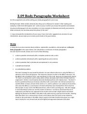3.09BodyParagraphsWorksheet ray finish