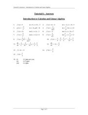 Tutorial 6 Answers