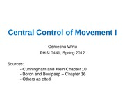 Central control of movement-I