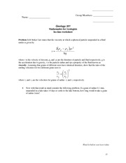 SettlingWorkSheet