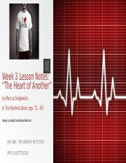 EAC 666 Week 3 Lesson Notes_The Heart of Another(1) (1).pptx