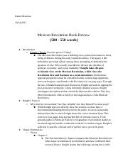 Mexican Revolution Book Review.docx