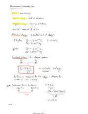 PHYS 12 Electrostatic Coulomb's Law Notes