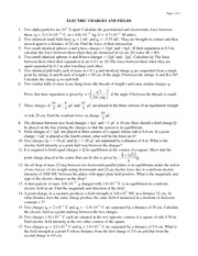 Electrostatics - Problem Set 1