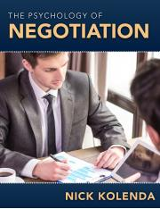 the-psychology-of-negotiation