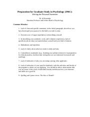 Common Mistakes When Writing the Personal Statement by Dr. Al Kaszniak.doc