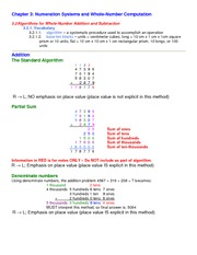 Lecture Notes on Numeration Systems and Whole-Number Computation