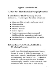 Adult Health Notes