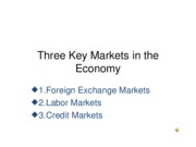 Lecture6--THREEKEYMARKETS