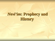 4 Nevi'im History and Prophecy