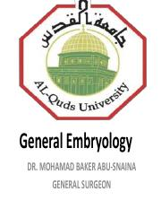 General Embryology - A2015