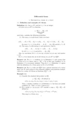 Differential forms Lecture