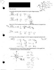 Radians and Functions Practice Test