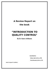 book review introduction to quality control