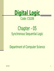cs106-Ch5- Synchronous Sequential Logic_1