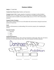 Dominoes Addition