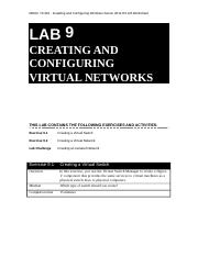 410 R2 Lab Worksheet Lesson 09 Creating And Configuring Virtual Networks
