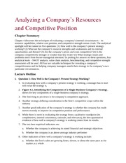 Analysis of Resource and Competition