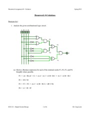 ECE 331 - Spring 2015 - HW4 Solutions