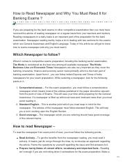 How to Read Newspaper and Why You Must Read It for Banking Exams(AIMBANKER).pdf