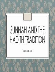 Session 5 Sunnah and the Hadith Tradition.pdf