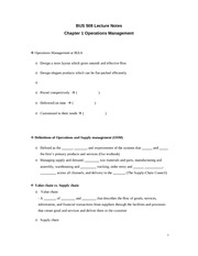 Lecture Notes_Chapter 01 BUS508