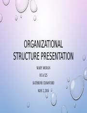 Organizational Structure Presentation