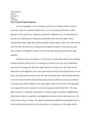 Fall Forum Essay Contest
