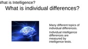 What is Intelligence - Human Development PP