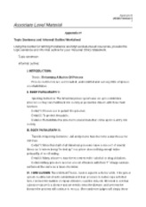 Appendix H Sentence and Informal Outline Worksheet