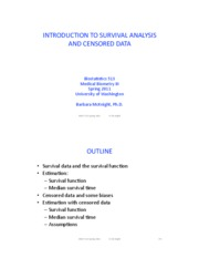 9. Intro to survival analysis and censored data
